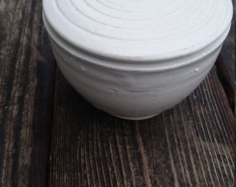 Pottery French Butter Keeper white contemporary modern  for butter home decor ON SALE
