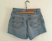 Levis denim cutoff shorts - size 10