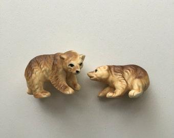 bear cub figurines home decor set of 2