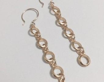 lightweight drop earrings with gold-filled ear hooks