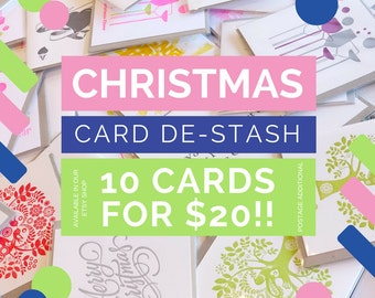 Bulk Christmas cards, holiday cards, bargain, special, heavily discounted, lucky dip, Christmas De-stash, 10 cards, below cost, end of line