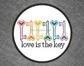 Love is the Key Cross Stitch Pattern