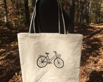 Canvas Tote Bag Bicycle
