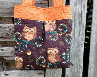 Owl purse, Michael Miller Norwegian woods,