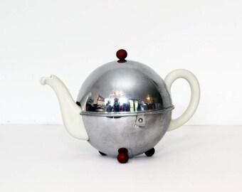 Vintage 1930's German Teapot - Art Deco - WMF Bauscher  Weiden - Insulated Tea or Coffeepot