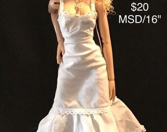 "Slip Dress for slim MSD or 16"" Fashion Dolls ONE DRESS"