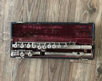 Vintage Flute Made in Italy with Case