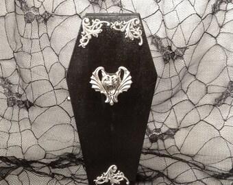 Black Vampire Gargoyle Coffin Box