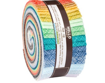 Kaufman Fabric Strips Jelly Roll Rollup, Architextures, RU-608-40, Free USA Shipping