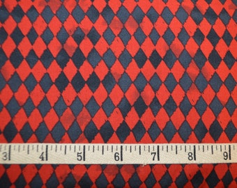 Clothworks. Pub Crawl. Small Geometric Red/Black - this is NOT a copyrighted, licensed Harley Quinn fabric