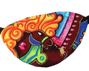 Pony Eye Patch Carousel Horse Rainbow Jeweled Cosplay Fashion Fantasy Carnival