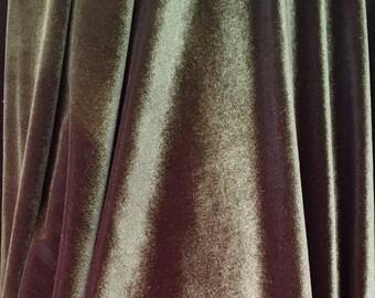 4-Way Stretch Velvet Fabric - Olive