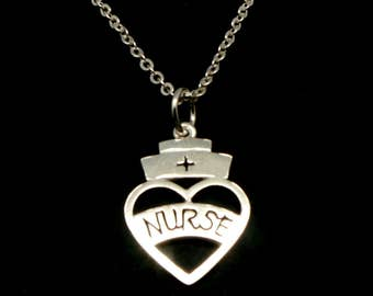 Registered Nurse Graduation Necklace - RN, EKG, ECG, Practitioner, Nursing Gift, Lpn, Bsn, Nicu, Doctor Gift, medical student gift
