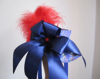 Dog Hat Blue Brocade