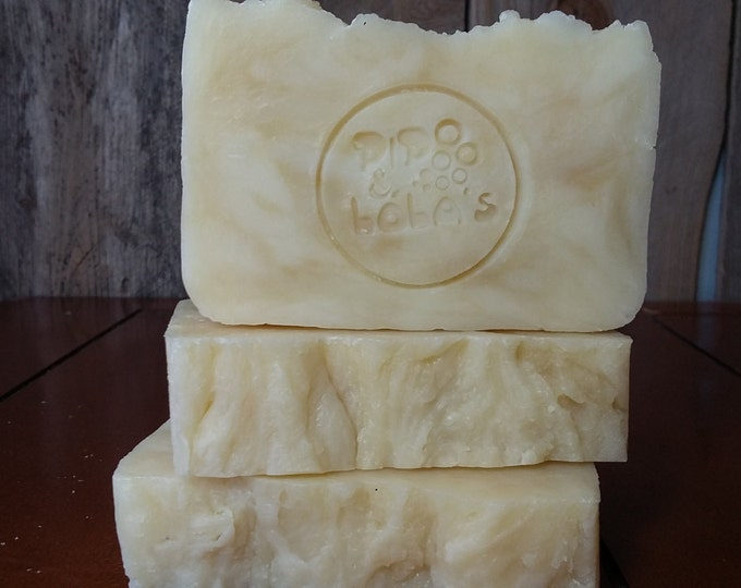 Emma Bovary - Goat Milk Cocoa Butter Soap -- Handmade Soap, Unscented Soap, Hot Process Soap, Vegetarian Soap, Goat Milk Soap