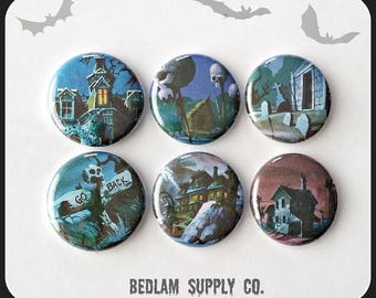 "Scooby Doo Houses and Backgrounds - 1"" Button Choose Your Own"