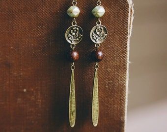 bohemian floral teardrop earrings.