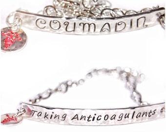 Silver Medical Alert Bracelet, sterling silver medical jewelry, medical id, medical information, medic alert bracelet