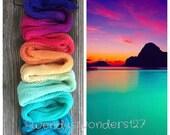 Hand Dyed Yarn, Gradient Yarn, Fingering Weight Yarn, Mystic Getaway