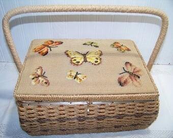 Vintage Sewing Basket by Dritz