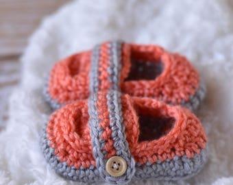 Monk Strap Booties Crochet Pattern PDF DOWNLOAD