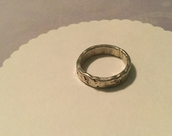 Hammered Sterling Silver Band Size 7