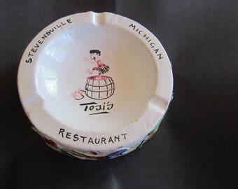 Tosis restaurant stevensville michigan ashtray huge pottery ashtray italy