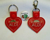 Aldi Keychain,Free Magnet, Aldi Key Coin Keeper- Comes with Free Shopping List Magnet