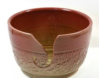 Ceramic Yarn bowl - Yarn Holder - Pottery Yarn Bowl - Red Yarn Bowl - Crochet Bowl - Yarn Bowl Pottery - Knitting Bowl - Knitting Supplies
