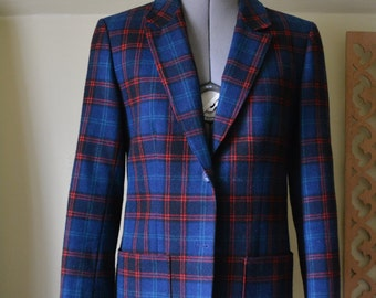 Blue Plaid Pendleton Women's Blazer