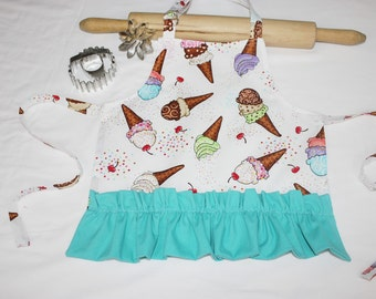 Ruffled Infant Apron - made to order, your choice of fabric