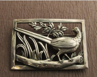 On Sale Antique Norseland By Coro Sterling Silver Pheasant Brooch Pin Jewelry After Jensen