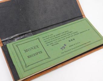 1960's Vintage Paper Money Receipt Book with Stubs