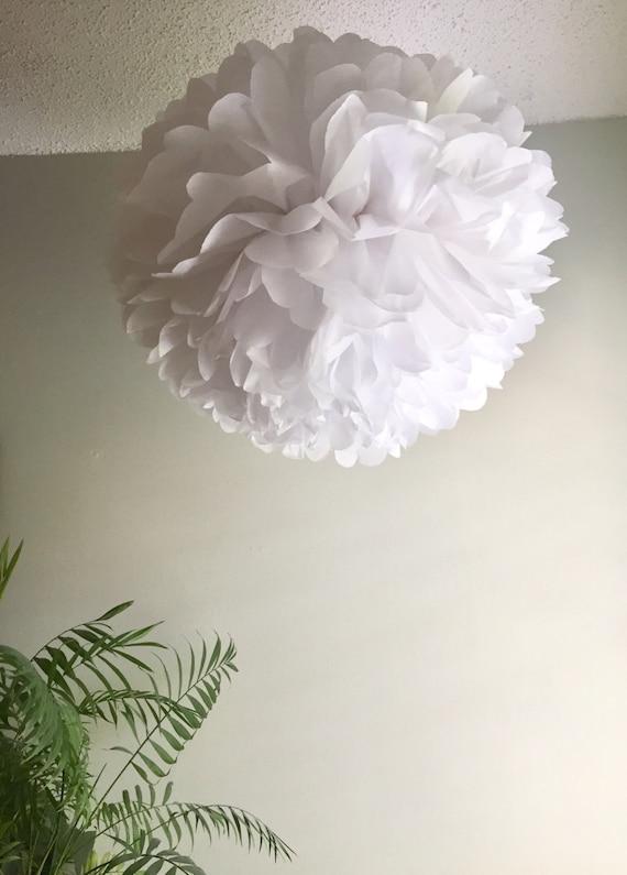 Giant tissue paper pom pom 24 inch white paper pom pom wedding il570xn mightylinksfo
