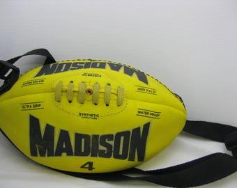 American football yellow bag
