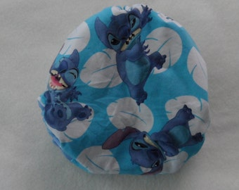SassyCloth one size pocket diaper with Stitch character cotton print. Made to order.