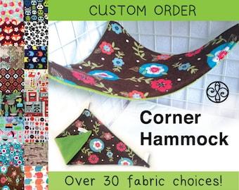 CHOOSE A FABRIC Reversible Corner Hammock