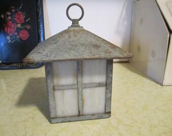 Vintage Light Cover Lantern Decor Metal Glass Indoor Outdoor