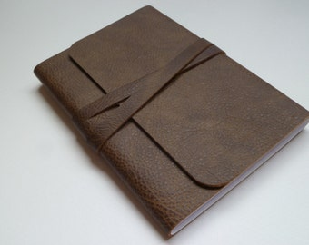 Travel Journal Leather Journal Leather Notebook.  Brown Leather with a Speckled Two Tone Finish.