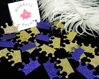 Gold & Purple Crown Confetti Sparkle Glitter/ Princess Royal Prince Party Decoration / Graduation / Little Prince Party / Baby Shower Decor
