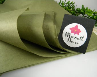 24 Olive Green Tissue Paper Sheets, Gift Wrap Paper Tissue, Rustic Green Wedding Decor, Olive Gift Packaging, 20 X 30 inches Gift Tissue