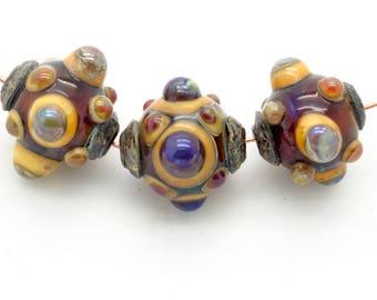 Ancient Jeweled Beads Handmade Lampwork
