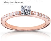 Custom Order - ENG7020RSE1 with just black center stone 14k rose gold