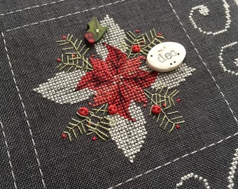 December Chalk Squared : Squareology Hands on Designs Just Another Button Co. cross stitch patterns chalkboard wall art
