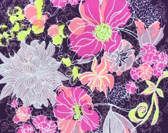 Purple, Pink, Yellow Serenade Moonlight Cotton Fabric by Art Gallery.  Totes, Purses, Quilting, phone cases, purse pouches, headbands