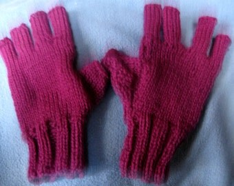 Fingerless, Half-Finger Gloves - Cashmere Blend
