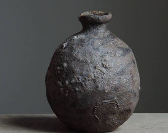 Wood Fired Bottle, Tokkuri, North Coast Range Series, Native California Clay #885