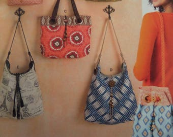 GROMMET PURSE Pattern • Simplicity 1598 • Handbags • Cloth Purses & Bags • Strap Purse • Sewing Patterns • Craft Patterns • WhiletheCatNaps