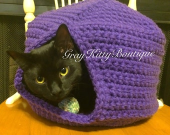 Cole's Cat Cave Crochet Pattern - Cat Hideaway Crochet Pattern - PDF File Only - Instant Download