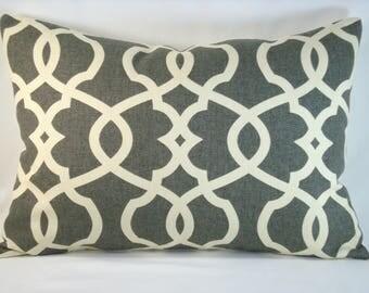 Magnolia Home Emory Lumbar Pillow Pewter Accent Lumbar Pillow 14x20 Cover